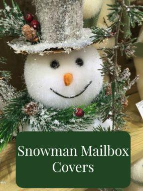 Snowman Mailbox Covers