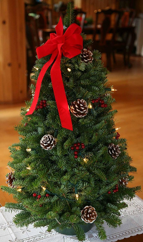 tabletop artificial christmas trees unique christmas decorations - Unique Artificial Christmas Trees