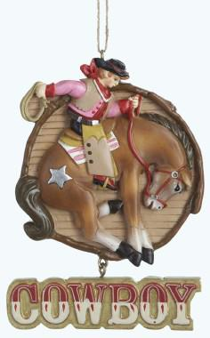 Western Theme Christmas Ornaments